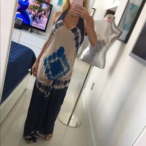 CUTE TIE-DYE MAXI DRESS